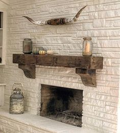 Reclaimed Wood Fireplace, Corbels, Wooden Corbels, Reclaimed Wood Beams, Wood Fireplace, Fireplace, Rustic Mantel, Corbel Shelf, Wood Fireplace Surrounds