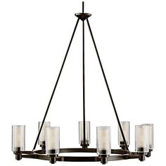 """Circolo Collection Olde Bronze 36"""" Wide Chandelier http://www.lampsplus.com/products/circolo-collection-olde-bronze-36-inch-wide-chandelier__80636.html"""