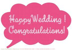手作り結婚式 photo props 無料素材