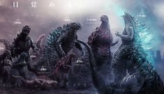 Artist's Epic Godzilla Size Chart Highlights How Much the King of the Monsters Has Grown Over the Years - Bloody Disgusting Kaiju Size Chart, Godzilla Height, Godzilla Costume, All Godzilla Monsters, Godzilla Wallpaper, Live Action, Marvel Avengers, Over The Years, Cool Art