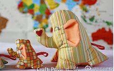 DIY Handmade Happy Elephant Sewing Toy