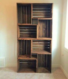 Incredible ideas rustic furniture 120 cheap and easy diy home decor prudent penny pincher crate bookshelf wood crates sandpaper stain l bracket outdoor