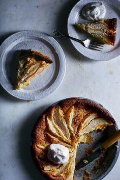 Salty Honey Pear Custard Pie | Hello My Dumpling (Gluten-Free, Crustless)