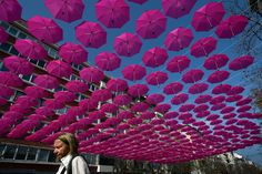 400 ombrelli a Sofia....
