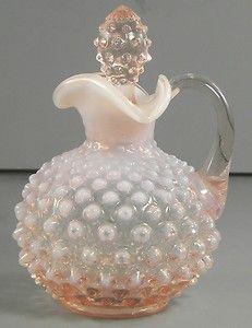 Fenton Pink Opalescent Hobnail Cruet Art Glass  http://www.ebay.com/itm/Fenton-Pink-Opalescent-Hobnail-Cruet-Art-Glass-/370600802321?pt=LH_DefaultDomain_0=item5649877811#ht_3353wt_754