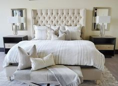 Master Bedroom Lamps parts can add a contact of style and design to any dwelling. Master Bedroom Lamps can imply many things to many individuals… Neutral Bedroom Decor, Neutral Bedding, Neutral Bedrooms, Gray Bedding, Queen Bedding, Modern Bedding, Guest Bedrooms, Master Bedrooms, Bedroom Ideas
