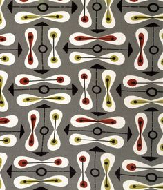 1950 39 s curtains atomic barkcloth fabric mid century modern for Children s furnishing fabrics