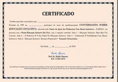 CERTIFICADO - CONVERSANDO SOBRE EDUCAÇÃO INCLUSIVA