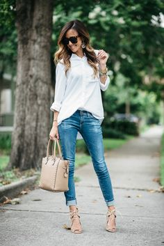 Button up and jeans