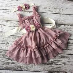 The Millicent dusty rose dress Toddler Flower Girl Dresses, Little Girl Dresses, Toddler Dress, Baby Dress, Girls Dresses, Pink Dress, Country Girls Outfits, Country Dresses, Girl Outfits
