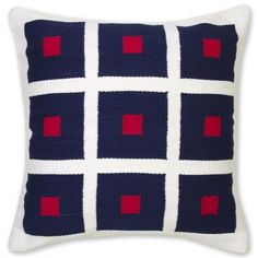 cotton peter pillow red and blue