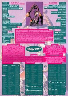 11 Sept 1992 - The backside to the flyer for Universe's Mind, Body and Soul rave. Mindblowing night!