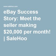 10 Best Online Sellers Success Stories Images Success Stories Success Selling Online