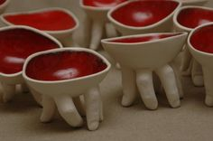 finger bowls! - not quite sure which board to put this one...creepy but neat craft idea