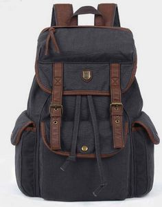 BACKPACK Genuine Cow Leather Men s leather bag by AWESOMEBAG Canvas Backpack,  Backpack Purse, Rucksack f553900b33