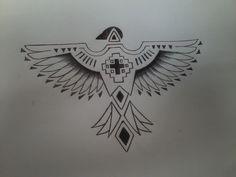 New tattoo. Today. #tattoo #thunderbird drew by my friend artist Whitney.