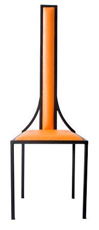 The Manhattan - Black Metal Frame with Mandarin Leather Chair – Andrew McQueen Furniture
