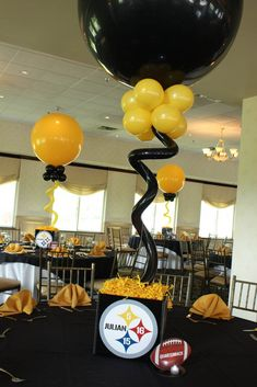 Steelers Cube Centerpieces Steelers Cube Centerpieces with Alternating Black