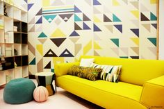 More color ideas for yellow couch living room