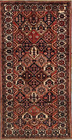 "Buy Bakhtiari Persian Rug 5' 2"" x 10' 2"", Authentic Bakhtiari Handmade Rug"