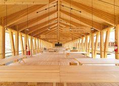 Für die Errichtung des Slow Food-Pavillons auf der Expo 2015 in Mailand wurde Lärchenholz aus nachhaltiger Forstwirtschaft verwendet – insgesamt 470 m3.