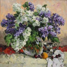 A bouquet of lilac. Oil on canvas. Impressionism, Decorating Your Home, Still Life, Mystic, Oil On Canvas, Lilac, Bouquet, Drawings, Pictures