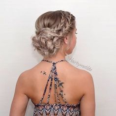 braided wedding updo hairstyles / http://www.himisspuff.com/beautiful-wedding-updo-hairstyles/18/