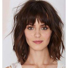 Ideia para quem está querendo cortar o cabelo – com ou sem a franja!