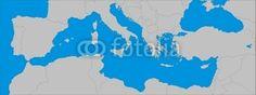 #Lizenzfrei #downloaden... #Royalty-free #download ...  #Mittelmeer #Karte #Map #Vektor  #fotolia.com