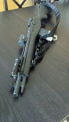 Socom by Springfield Armory. You can hunt almost anything in North America As well as defend yourself. or as commonly referred to as Deer, caribou, Moose, Bear, person. Out to over 500 yards. Weapons Guns, Guns And Ammo, Battle Rifle, Fire Powers, Cool Guns, Military Weapons, Tactical Gear, Tactical Survival, Survival Gear