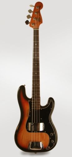 1980 Fender® Precision Bass® dark brown sunburst lacquer, Excellent, Hard, $2,200.00 (via Gbase.com)