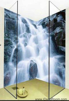 3D Wallpaper Huge Fall Rocks Wall Murals Bathroom Decals Wall Art Print Home Office Decor