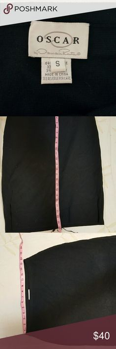 Oscar De La Renta S-M ( stretch ) pencil skirt Has a trendy leather lace up detail in the back. Oscar de la Renta Skirts Pencil