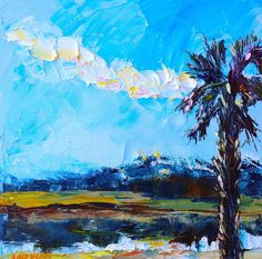 The Accidental Artist: Everglades Sunrise - $100 - There are many kinds of palm trees... and other things I've noticed.