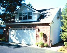 Custom 26x25 reverse gable garage with gable dormer for Reverse gable garage