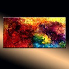 Resumen pintura Original abstractos pintura por newwaveartgallery