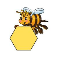 Bee Hexagon Shape activity for preschool and kindergarten