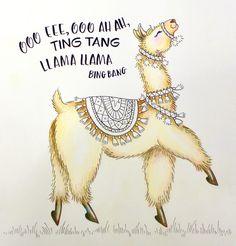 lay down base color Alpacas, Funny Llama, Cute Llama, Llama Face, Llama Llama, Llama Drawing, Llama Arts, Coloring Tutorial, Art Drawings
