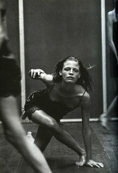 """Enchanting Mood"": Tanga Moreau photographed by Peter Lindbergh for Vogue Italia, September 1997"