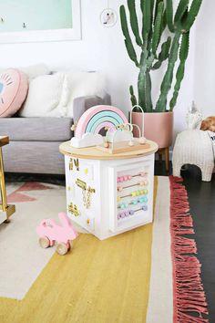 Easy Kid Organization DIY Ideas: Toddler Activity Center #organization #organized #home #homedecor #kidsbedroom