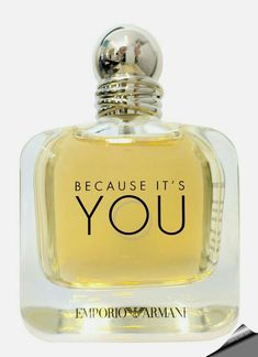 Emporio Armani Because It's You Eau de Parfum for women. The fragrance that reportedly exudes both strength and delicacy is created by perfumer Anne Flipo. Perfume Hermes, Perfume Versace, Perfume Diesel, Best Perfume, Perfume Bottles, Emporio Armani Because It's You, Vintage Perfume Bottles, Lotions, Soaps