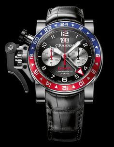 Graham Chronofighter Oversize GMT Blue  Red