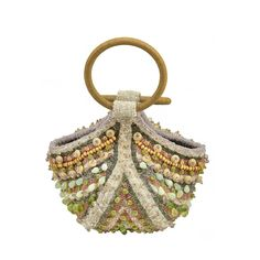 Gorgeous Bea Valdes Beaded Handbag   From a collection of rare vintage evening bags and minaudières at https://www.1stdibs.com/fashion/handbags-purses-bags/evening-bags-minaudieres/