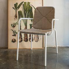 Hand-made outdoor dining armchair W x D x H x SH Outdoor Dining, Outdoor Chairs, Outdoor Furniture, Outdoor Decor, Dining Arm Chair, Armchair, Handmade, Home Decor, Al Fresco Dinner