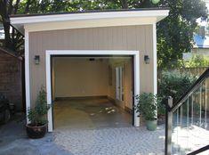 Interior Of Backyard Modern Garage Studio She Shed