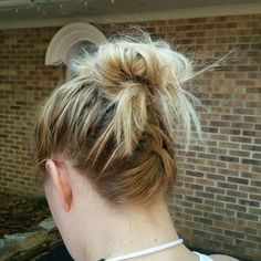Cute updo for Six Flags!