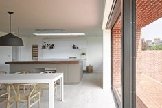 The kitchen at the house at Broad Street in Suffolk by Nash Baker Architects.