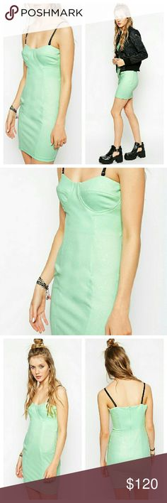 Green Textured Bustier Style Dress NWTs. By Bill + Mar. From asos. ASOS Dresses Mini