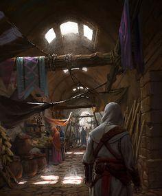 Preciosa ilustración de Assassin's Creed