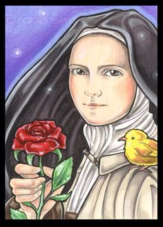 Want to discover art related to lisieux? Check out inspiring examples of lisieux artwork on DeviantArt, and get inspired by our community of talented artists. St Therese Prayer, St Therese Of Lisieux, Catholic Art, Catholic Saints, Holly Pictures, Santa Teresa, Red Roses, Art Prints, Wall Art